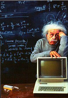 Postkarte Albert Einstein Computer