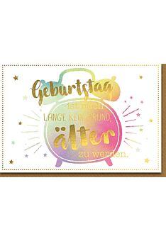 Geburtstagskarte lustig Wecker aquarell