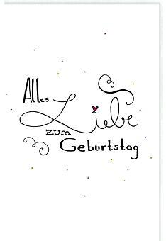 Glückwunschkarte Geburtstag Schriftzug Alles Liebe zum Geburtstag