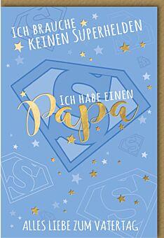 Glückwunschkarte Vatertag - Superpapa