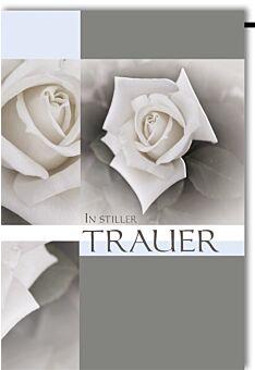 Trauerkarte Trauer: Rose in Quadrat
