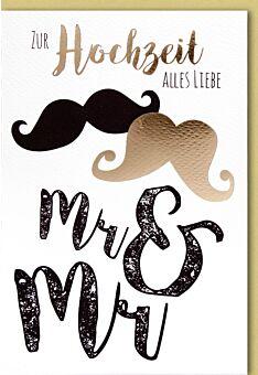 Hochzeitskarte Homoehe Hochzeit Mr. & Mr.