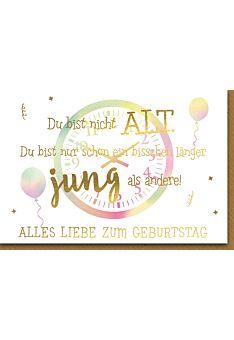 Geburtstagskarte lustig Geburtstag - Uhr aquarell