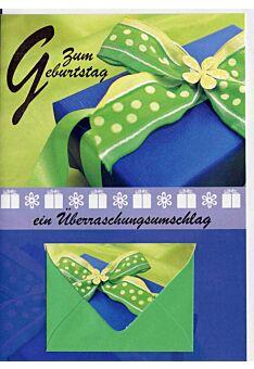 Geburtstagskarte mit Geldfach: Zum Geburtstag