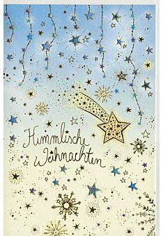 Weihnachtsgrußkarte Natur Sternenhimmel