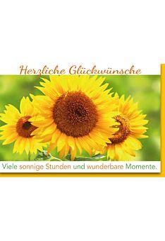 Glückwunschkarte Geburtstag Sonnenblumen