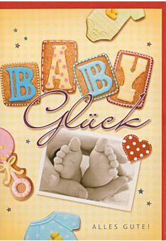 Glückwunschkarte Babyglück liebevoll