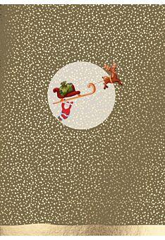 Weihnachtspostkarte Schlitten m. W-mann