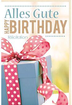 Glückwunschkarte Geburtstag Geschenk