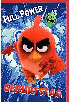 """Geburtstagskarten für Kinder Angry Birds """"Full Power"""""""