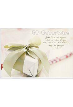 Geburtstagskarte 60 mit Spruch von Wilhelm Busch