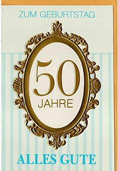 Karte zum 50 Geburtstag hochwertig
