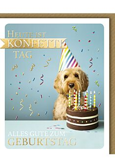 Geburtstagskarte lustig Snapshot Heute ist Konfetti Tag