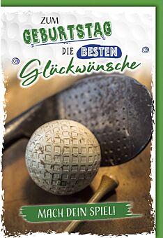 Geburtstagskarte Männer Golfball
