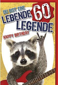 Geburtstagskarte 60 Jahre Du bist ein lebende Legende