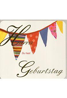 Geburtstagskarte originell Girlande Hurra
