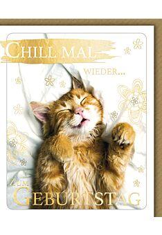 Geburtstagskarte lustig Snapshot Chill mal wieder. Alles Gute zum Geburtstag
