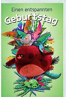 """Geburtstagskarten für Kinder Angry Birds """"einen entspannten Geburtstag"""""""