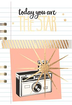 Postkarte Spruch Today you are the star