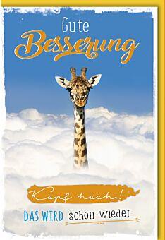 Genesungskarte - Giraffe Kopf hoch