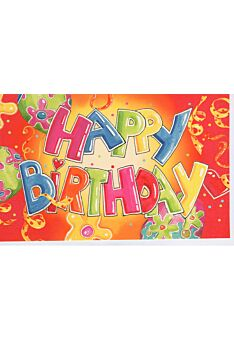 Bunte Geburtstagskarte Happy Birthday