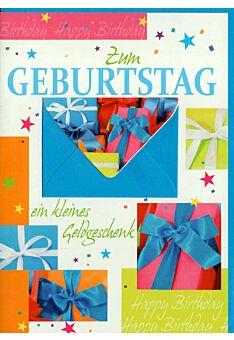 Geburtstagskarte mit Geldfach: Ein kleines Geldgeschenk