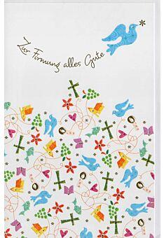 Glückwunschkarte Firmung christliche Symbole