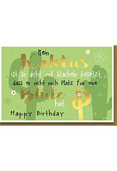 Geburtstagskarte lustig zwei Kakteen
