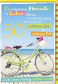 Geburtstagskarte 50 Die schönsten Momente sind die im Leben