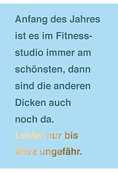 Postkarte lustig Fitnessstudio die anderen Dicken