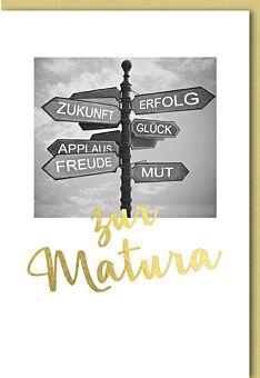 Glückwunschkarte zur Matura - Schilderbaum