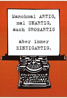 Postkarte Sprüche Immer Einzigartig