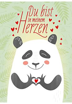 Postkarte Liebe Du bist in meinem Herzen