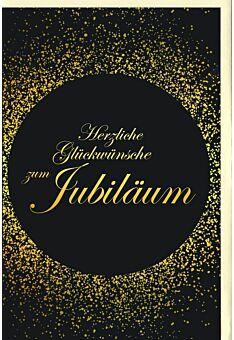 Glückwunschkarte Jubiläum schwarz gold