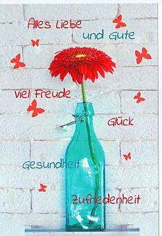 Grußkarte Alles Liebe und Gute viel Freude Glück