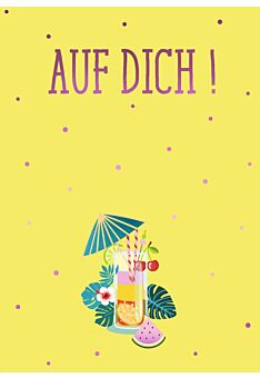 Postkarte Spruch Auf Dich!