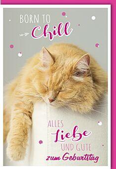 Geburtstagskarte lustig Born to chill