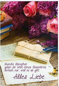 Grußkarte Alles Liebe Spruch manche Menschen
