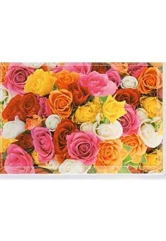 Blumemkarte ohne Text bunter Strauß