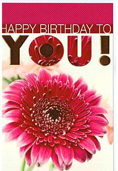 Karte Geburtstag Blume Happy Birthday to you