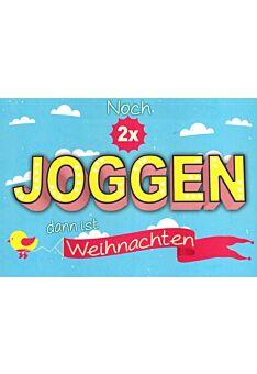 Postkarte witzig Spruch Noch 2x joggen.