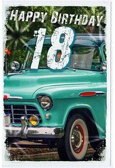 Karte 18 Geburtstag Auto Happy Birthday