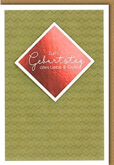 Geburtstagskarte premium- aufgestellte Quadrate