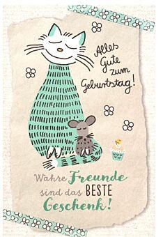 Karte Geburtstag Katze Wahre Freunde