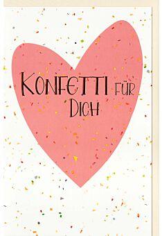 Glückwunschkarte Konfetti für Dich