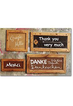 Danksagungskarte Danke - Dankebilder