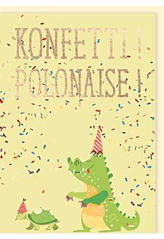 Geburtstagskarte: Konfetti! Polonaise!