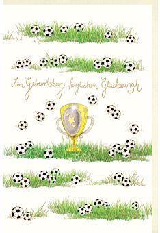 Geburtstagskarte für Fußballspieler Naturkarton