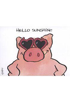 Jan Vis Cartoon Postkarte Liebe: Hello Sunshine