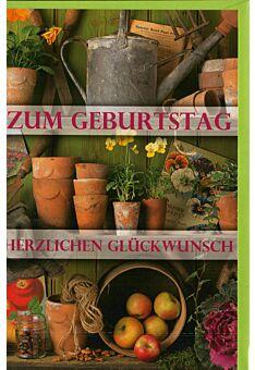 Geburtstagskarte für Gärtner und Gartenfreunde